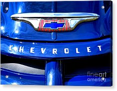 Chevrolet Pickup Hood Ornament Acrylic Print by Olivier Le Queinec