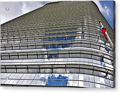 Chevron Corporation Houston Tx Acrylic Print by Christine Till