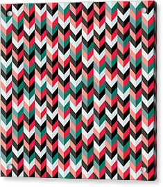 Chevron Acrylic Print by Mike Taylor