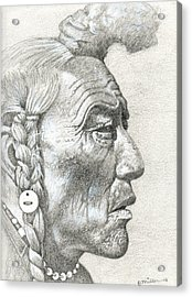 Cheyenne Medicine Man Acrylic Print by Bern Miller