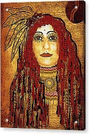 Cheyenne Woman Warrior Acrylic Print by Pepita Selles