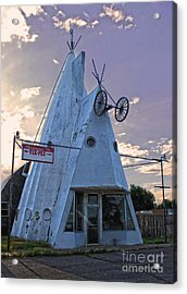 Cheyenne Wyoming Teepee - 03 Acrylic Print by Gregory Dyer