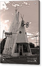 Cheyenne Wyoming Teepee - 04 Acrylic Print by Gregory Dyer