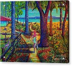 Chez Les Amazons Acrylic Print by Viktor Lazarev