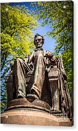 Chicago Abraham Lincoln Sitting Statue Acrylic Print by Paul Velgos