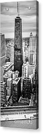 Chicago Aerial Vertical Panoramic Picture Acrylic Print by Paul Velgos