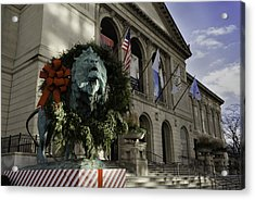 Chicago Art Institute Guardian Acrylic Print by Sebastian Musial