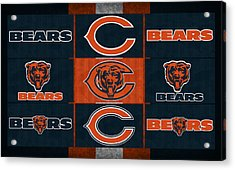 Chicago Bears Uniform Patches Acrylic Print by Joe Hamilton