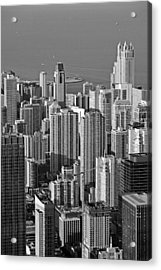 Chicago - Birds-eye-view Acrylic Print by Christine Till