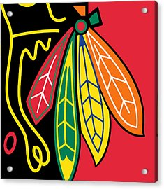 Chicago Blackhawks Acrylic Print by Tony Rubino