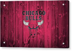 Chicago Bulls Barn Door Acrylic Print by Dan Sproul