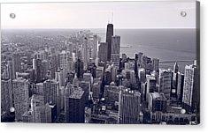 Chicago Bw Acrylic Print by Steve Gadomski