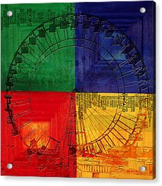 Chicago City Collage 3 Acrylic Print by Corporate Art Task Force