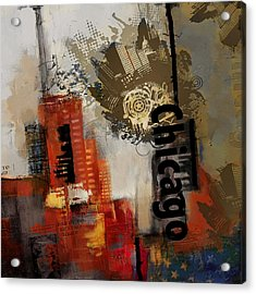 Chicago Collage Acrylic Print by Corporate Art Task Force