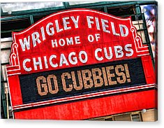 Chicago Cubs Wrigley Field Acrylic Print by Christopher Arndt