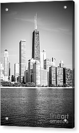 Chicago Hancock Building Black And White Picture Acrylic Print by Paul Velgos