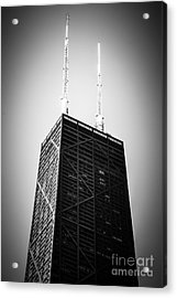 Chicago Hancock Building In Black And White Acrylic Print by Paul Velgos