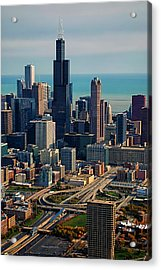 Chicago Highways 05 Acrylic Print by Thomas Woolworth