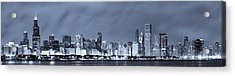 Chicago In Blue Acrylic Print by Sebastian Musial