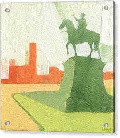 Chicago Kosciuszko Statue 15 Of 100 Acrylic Print by W Michael Meyer