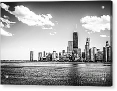 Chicago Lakefront Skyline Black And White Picture Acrylic Print by Paul Velgos