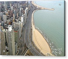 Chicago Lakeshore Acrylic Print by Ann Horn