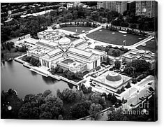 Chicago Museum Of Science And Industry Aerial View Acrylic Print by Paul Velgos