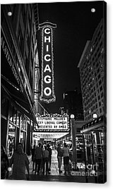 Chicago Nights Acrylic Print by Terry Rowe