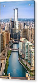 Chicago River Sunrise Acrylic Print by Steve Gadomski