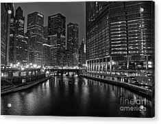Chicago Riverwalk Acrylic Print by Eddie Yerkish