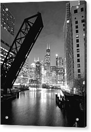 Chicago Skyline - Black And White Sears Tower Acrylic Print by Horsch Gallery