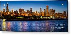 Chicago Skyline Acrylic Print by Inge Johnsson