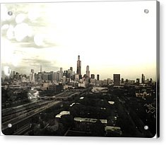 Chicago Skyline Acrylic Print by Mike Maher