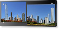 Chicago Skyline Of Superstructures Acrylic Print by Christine Till
