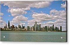 Chicago Skyline Acrylic Print by Sharin Gabl