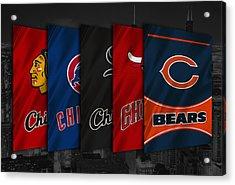 Chicago Sports Teams Acrylic Print by Joe Hamilton