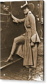 Chicago Suffragette Marching Costume Acrylic Print by Padre Art