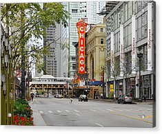 Chicago Theatre - French Baroque Out Of A Movie Acrylic Print by Christine Till