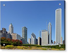 Chicago - What A Beautiful City Acrylic Print by Christine Till