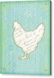 Chicken Acrylic Print by Jennifer Pugh