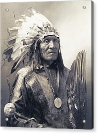 Chief He Dog Of The Sioux Nation  C. 1900 Acrylic Print by Daniel Hagerman