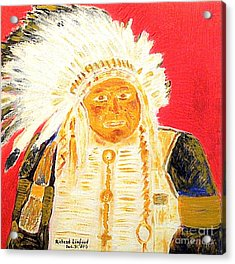 Chief Seattle 1 Acrylic Print by Richard W Linford