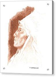 Chief Strangehorse Acrylic Print by Paul Shafranski