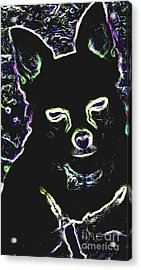 Chihuahua Silhouette With Color Acrylic Print by Gail Matthews