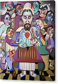 Childern A Gift From God Acrylic Print by Anthony Falbo