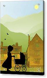 Childhood Dreams The Pram Acrylic Print by John Edwards