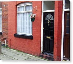Childhood Home Of George Harrison Liverpool Uk Acrylic Print by Steve Kearns