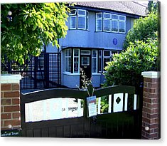 Childhood Home Of John Lennon Liverpool Uk Acrylic Print by Steve Kearns
