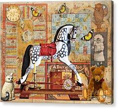 Childhood Treasures Acrylic Print by Judy Wood