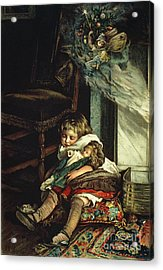 Children Dreaming Of Toys Acrylic Print by Lizzie Mack
